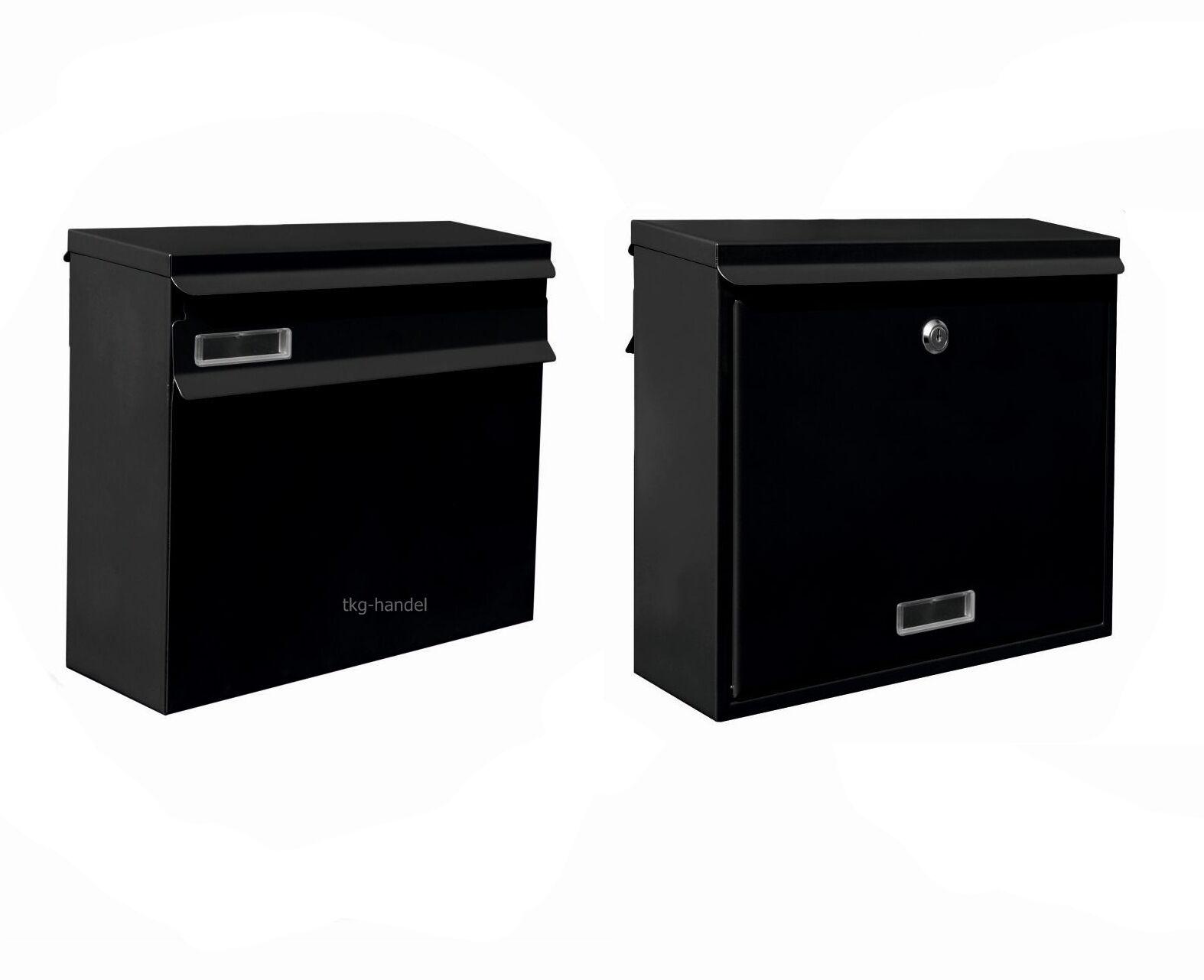GROß Zaunbriefkasten Einbau Briefkasten Postkasten DIN C4 Farbe Schwarz