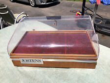 Vintage Jostens College Ring Jewelry Counter Display Case Lucite Amp Wood