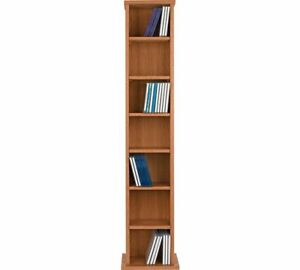 Image is loading Oak-Wooden-CD-Rack-6-Tier-Storage-Unit-  sc 1 st  eBay & Oak Wooden CD Rack 6 Tier Storage Unit Cabinet Stand DVD Shelf ...