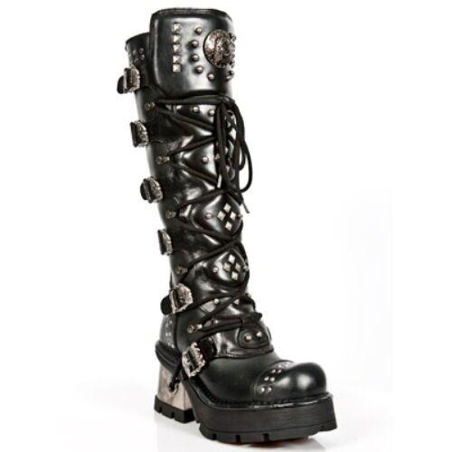 outlet NEWROCK M.1030 S1 S1 S1 nero - New Rock Punk Gothic Biker stivali - donna  Garanzia del prezzo al 100%