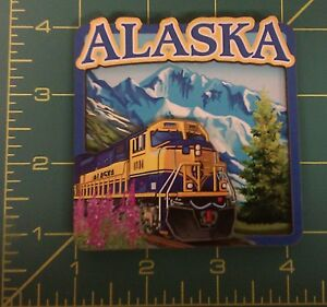 3D-Alaska-Train-wood-magnet-Alaska-Railroad-Engine-Ships-worldwide
