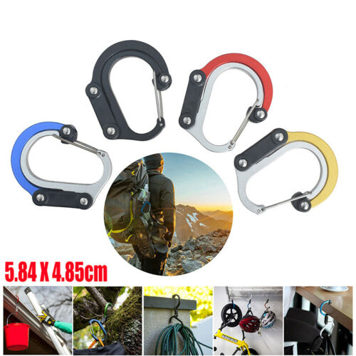 Type D Carabiner Rotating Hook Clip Non-Locking Strong Clips FD.UK