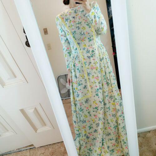 asis cute Vintage Maxi floral Dress Calico Floral