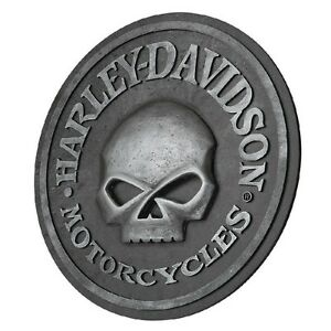 Harley Davidson 174 Motorcycles 18 Quot Round 3 D Sculpted Skull Pub Sign Hdl 15311 682318128326 Ebay