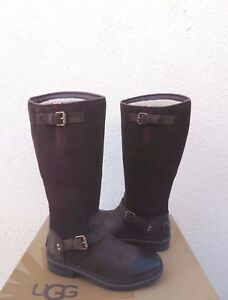 3268b41bcf6 Details about UGG THOMSEN STOUT BROWN TALL WATERPROOF LEATHER SNOW BOOTS,  US 6/ EUR 37 ~NEW