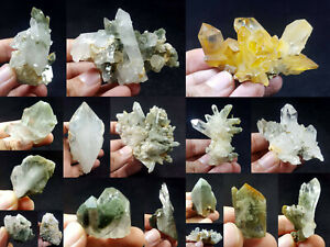 Natural-Stunning-Lot-of-Chlorite-Quartz-Crystals-Specimens-Pakistan-17Pcs-1-3kg