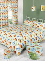 CHILDREN BOYS SINGLE BED BEDDING QUILT /DUVET COVER SET DINOSAURS DINOLAND