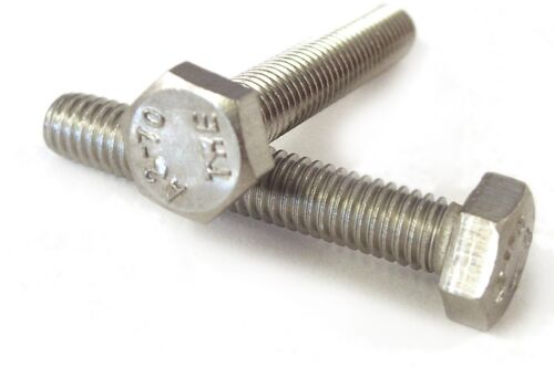 Qty 20 Hex Set Screw M16 16mm x 40mm Stainless Steel SS 304 A2 70 Bolt