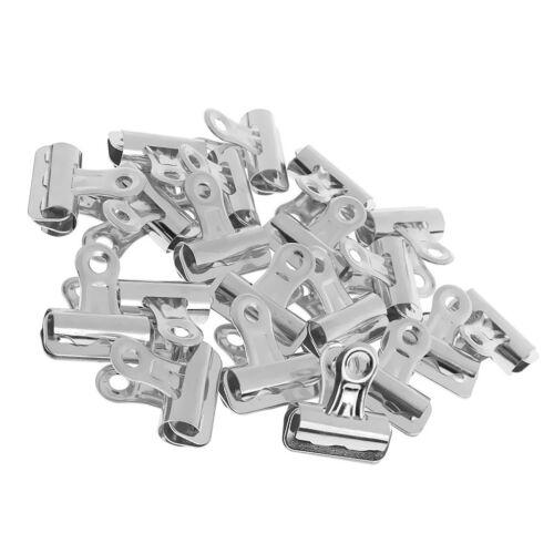 Metall Bulldog Clips 25mm Wäscheklammern Papierklammer Binderclips 20 Stk