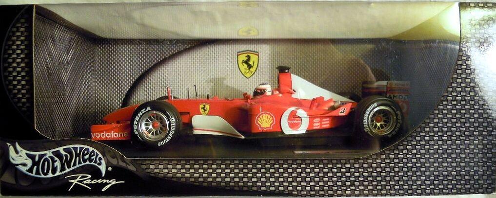 Hot Wheels 54627  ferrari f 2002, rubens barrichello, nuevo con embalaje original-sin abrir