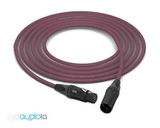 Gotham GAC-2 AES/EBU Cable | Neutrik Gold XLR-F XLR-M | Purple 100 Feet 100 Ft.