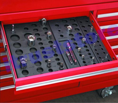 Plastic Metric and SAE Socket Holder Holding Rack Drawer Organizer for Tool Box