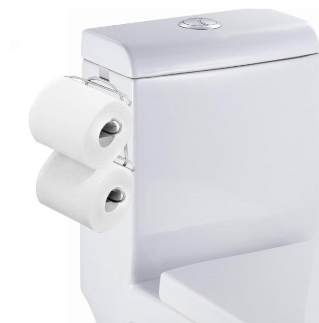Toilet Paper Holder 2 Roll Storage Over The Tank Tissue Hanging