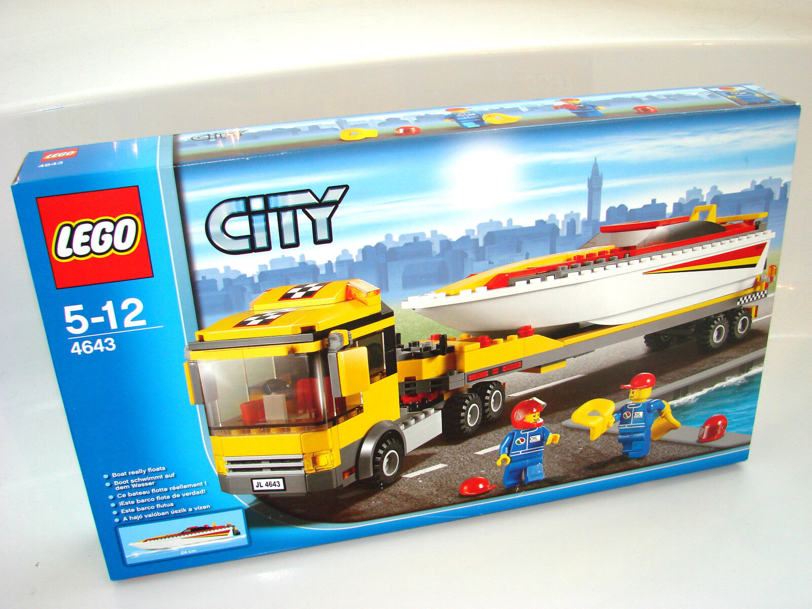 LEGO ® City 4643 Power BOOT TRANSPORTER NUOVO OVP _ Power Boat TRANSPORTER NEW MISB NR