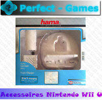 Hama Triple Station De Charge Nintendo Wii U Blanche Gamepad Wiimote Batterie