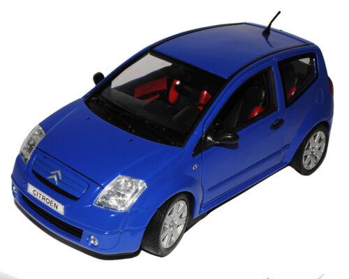 Citroen C2 Blau 2003-2009 1//18 Welly Modell Auto mit oder ohne individiuellem ..