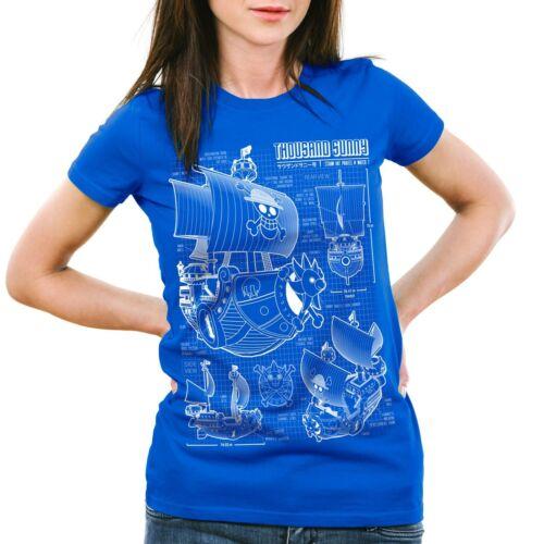 Thousand Sunny Damen T-Shirt One luffy Strohhut Pirat Piece lamp Anime ruffy fan