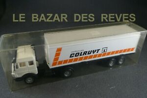SOLIDO-FRANCE-Camion-MERCEDES-Promotionnel-034-COLRUYT-034-Boite