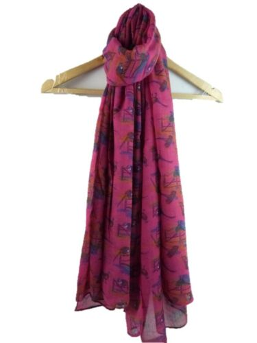 Lady/'s scarf with Bird Pheasants design Good quality Available in 4 colours