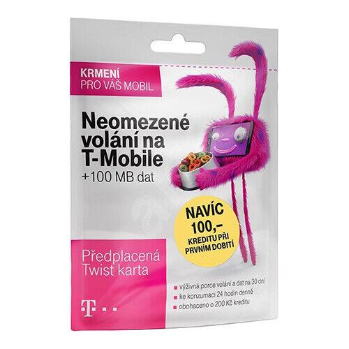 T-Mobile Czech Republic prepaid SIM card Credit 200 CZK