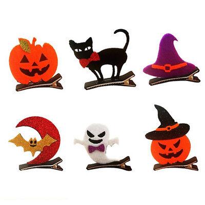 1PC Funny Pumpkin Bat Cat Halloween Party Cosplay Decor Kids Hair Clip