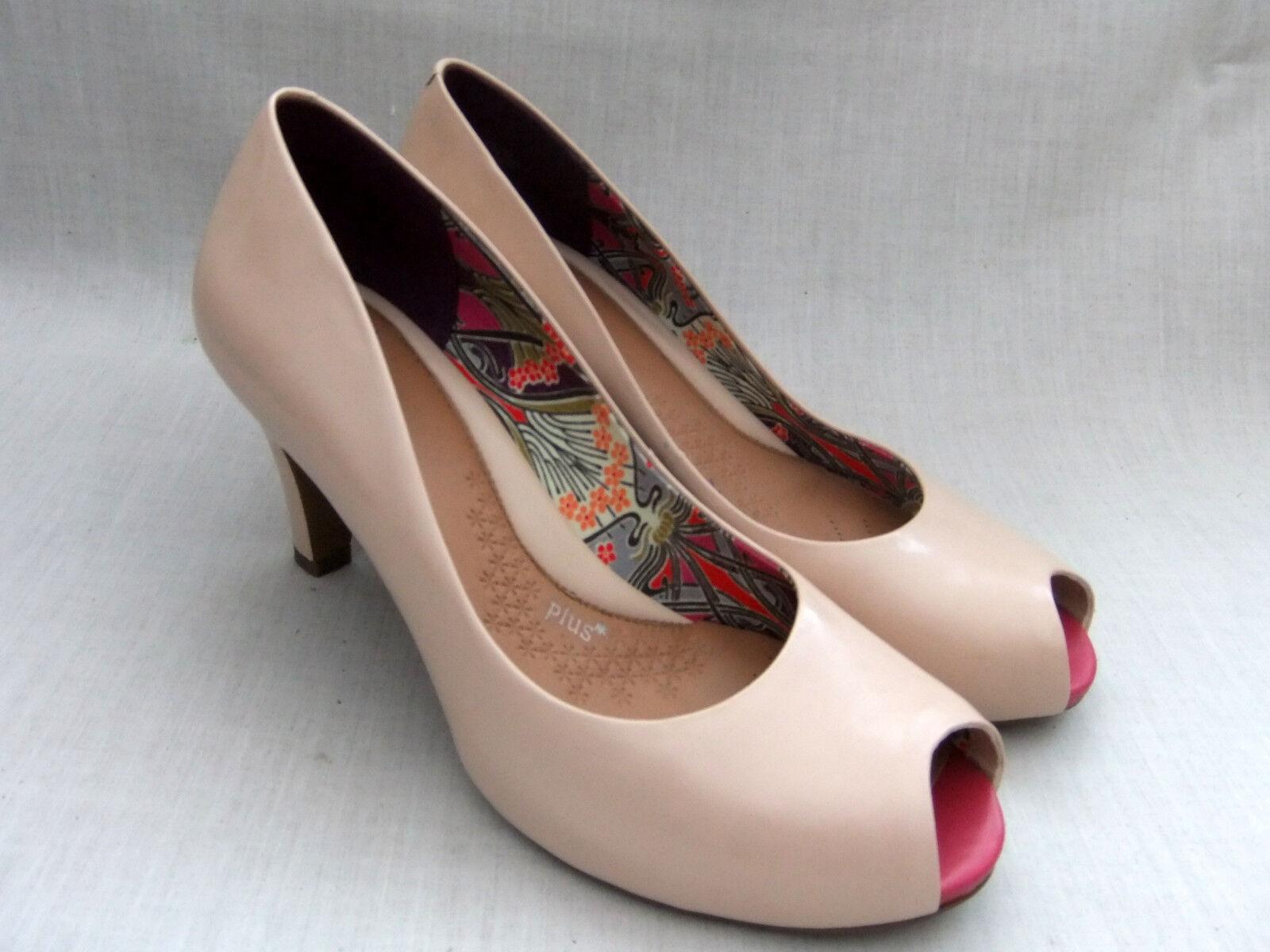 NEW CLARKS CHORUS SING Damenschuhe NUDE PATENT LEATHER PEEP-TOE 41 Schuhe SIZE 7 / 41 PEEP-TOE f68519