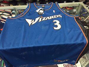 buy online 23e8c e4d6d Details about Washington Wizards Juan Dixon NIKE AUTHENTIC Navy Jersey =  Size 60(4XL)