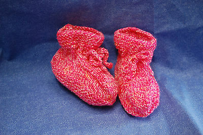 Babyschuhe Babysocken Babyschühchen mehrfarbig gestrickt von Kuschelmützen
