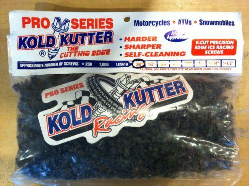 "Kold Kutter 1 1//2/"" #12 250 Pack Racing Track Tire Ice Studs//Screw Snowmobile ATV"