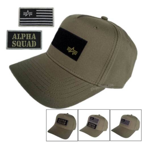 Alpha Industries VLC patch cap 196901 2 patches with velcro to change outfit new