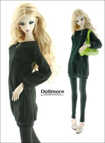 """Dollmore 26/"""" BJD girl clothes Model Woman Size Black Raglan Boxy T"""