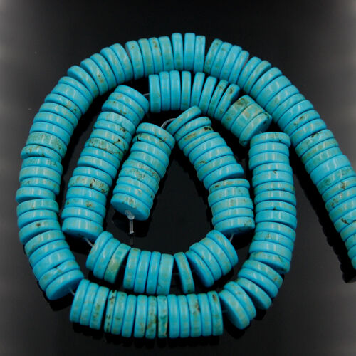 """Stabilized Turquoise Gemstone Heishi Beads 16/""""  4mm 6mm 8mm 10mm 12mm"""