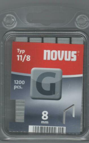 Agrafes NOVUS 11//8mm 1200 Pièce 042-0385 r11//j-031//j-08