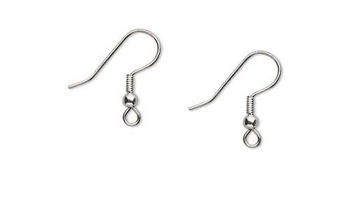 500 Surgical Stainless Steel Ear Wires  Earwires With Coil And Ball Earrings