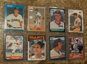 8-Will-Clark-1986-1987-Fleer-Donruss-Topps-Rookie-Card-Lot-RC-Giants-ROY-1988