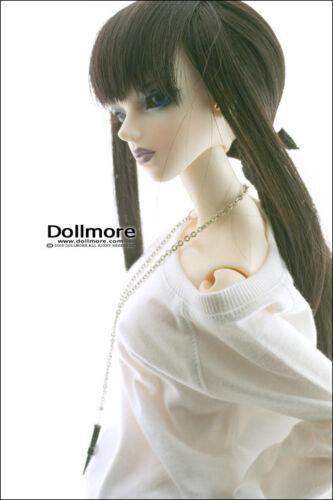 """Dollmore 26/"""" BJD girl clothes Model Woman Size Raglan Boxy T white"""