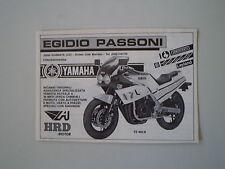 advertising Pubblicità 1986 MOTO YAMAHA FZ 400 R