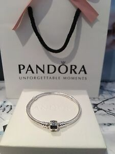 New Genuine 20cm Pandora Moments Silver Clasp Bracelet With Pouch 590702 RRP55 - Essex, London, United Kingdom - New Genuine 20cm Pandora Moments Silver Clasp Bracelet With Pouch 590702 RRP55 - Essex, London, United Kingdom