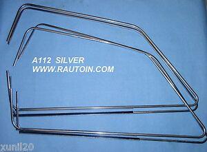 A112-Abarth-CORNICI-RASCHIACQUA-FINESTRINI-GLASS-TRIMS-SILVER
