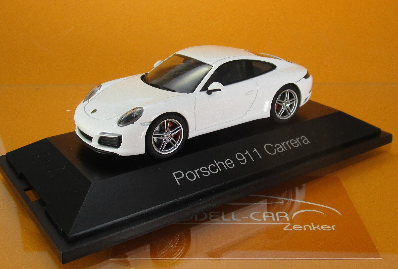 Herpa 071017 Porsche 911 Carrera Coupé 991 II carrarablanc Metallic scale 1 43