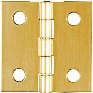 2 2-1//2 Long x 1-1//8 Open Stanley Solid Brass Miniature Narrow Hinge
