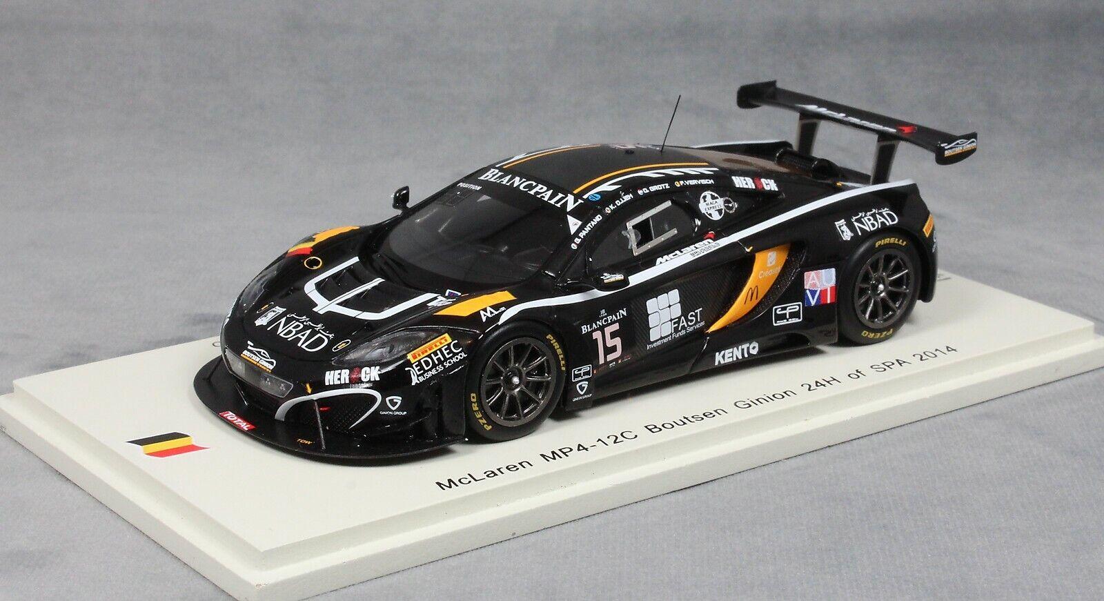 Spark McLaren MP4-12C SPA 24 Hour 2014 ojjeh, vervisch, Grossoz & Pantano SB100