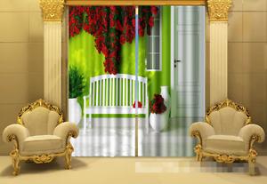 Cortina de sala de Flores Blockout Foto 3D Impresión Tela Cortinas Cortinas Ventana au