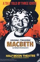 MACBETH HALF MOON THEATRE Flyer Handbill