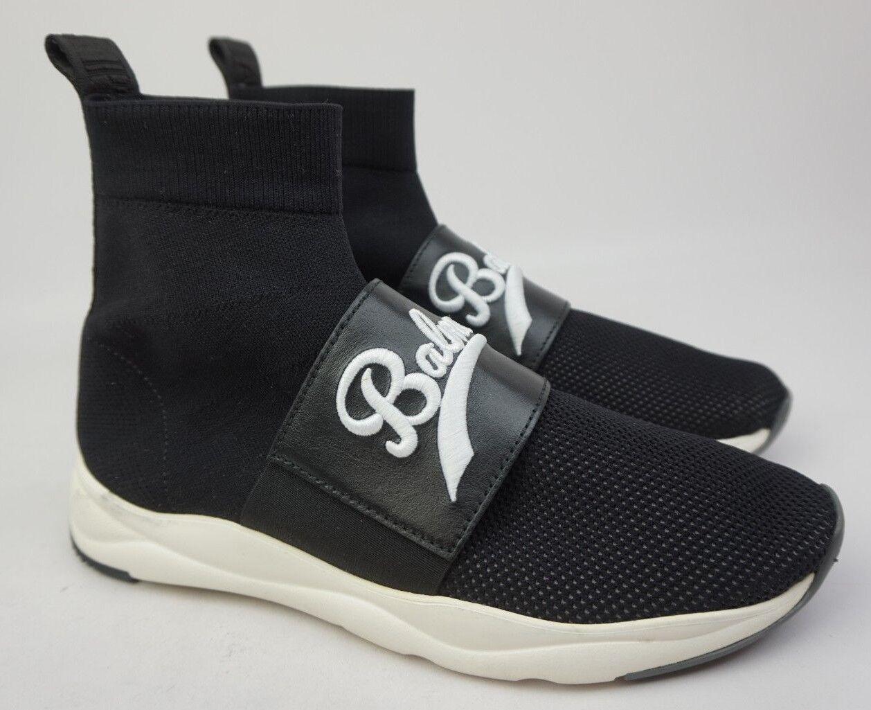 Balmain Estampado Cameron Logo Tira Calcetines Malla Negro Negro Negro Zapatillas Talla 40  salida
