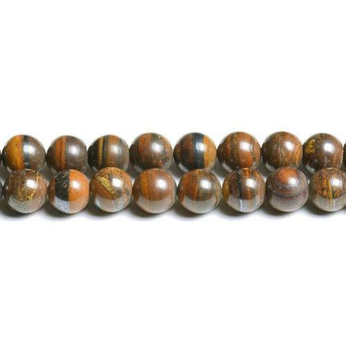 Tiger Hierro Redonda Con Cuentas 4mm Marrón//Negro 95 piezas Piedras Preciosas Fabricación de Joyas Artesanías