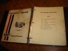 Massey Ferguson 1500 1800 Tractor Service Manual Amp Operators Ah13