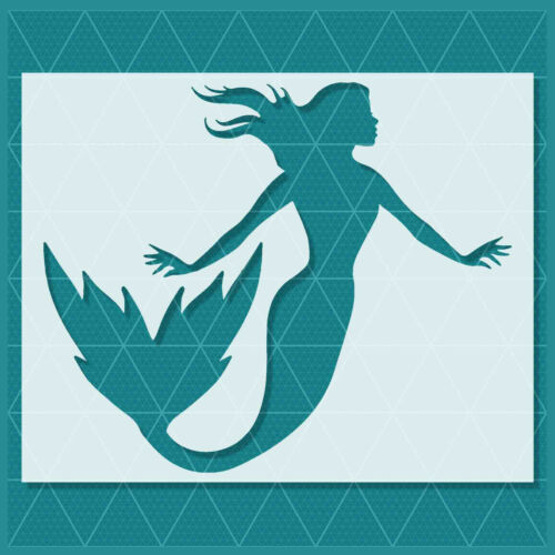 Mermaid Stencil 14x11 10x8 Reusable Mylar Template