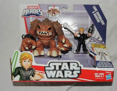 Star Wars Playskool Galactic Heroes Luke Skywalker /& Rancor Return of Jedi