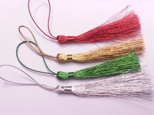 20 x Christmas TASSELS  Craft Cardmaking Scrapbooking Xmas Gift  Card Party